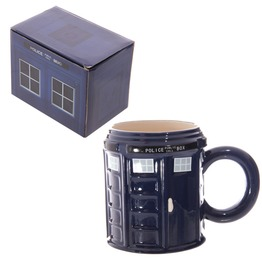 Egg N Chips London Novelty Ceramic Police Box Mug