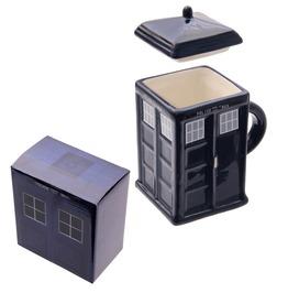 Egg N Chips London Novelty Ceramic Police Box Tardis Dr Who Mug With Lid
