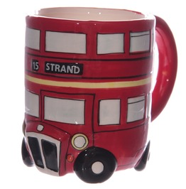 Egg N Chips London Fun Novelty Routemaster Red Bus Mug