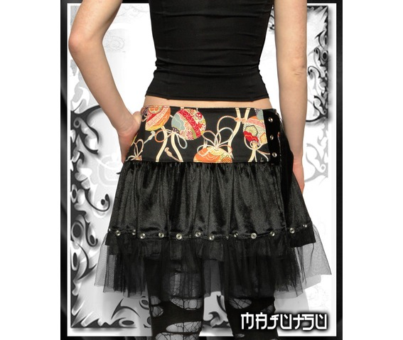 Japan Mini Wrap Skirt Lolita Black Velvet_Skirts_2.jpg