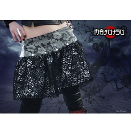 Japanese Skirt Mini Wrap Sakura Silver