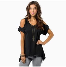 3 Colors Casual Summer Off The Shoulder T Shirt