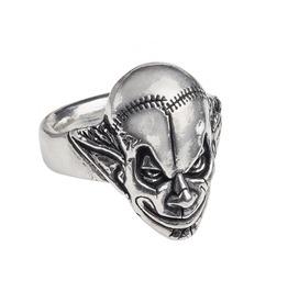 M'era Luna Evil Clown Unisex Gothic Ring By Alchemy Gothic