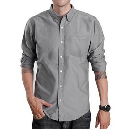 New Oxford Button Down Double Stich Long Sleeve Shirt Men S M L