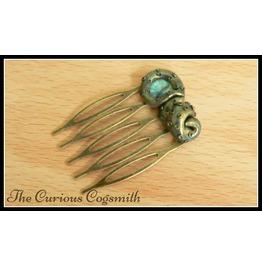 Green & Bronze Cthulhu Hair Comb