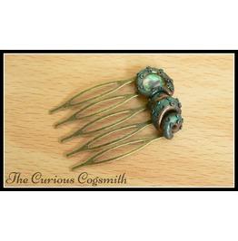 Green & Gold Cthulhu Hair Comb