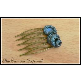 Blue & Black Cthulhu Hair Comb