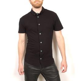 Mens Goth Jeresy Short Sleeve Dress Shirt