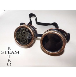 Steampunk Goggles Glasses Burning Man Gothic Lenses Welder Glasses