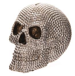 Egg N Chips London Fantasy Jewelled Silver Skull Head 14.5cm Money Box