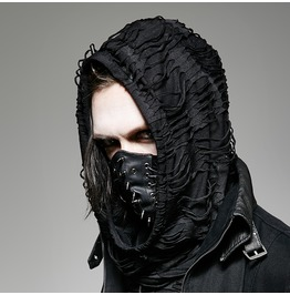 Men's Punk Rivets Faux Leather Masks S 182