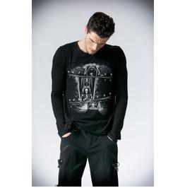 Men's Skull Printed Long Sleeve Punk T Shirt