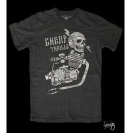 Cheap Thrills, Men's T Shirt, Custom Dyed Black