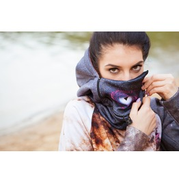 Centaurus A Galaxy Hoodie With Replaceable Mask