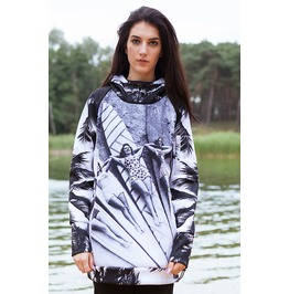 Retro Surf Hoodie With Replaceable Mask
