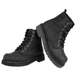 Tuk Ladies Black Dragon Vegan Military 9 Eye Combat Boots Free Us Shipping