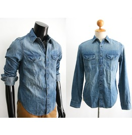 New Men Gap Denim Jeans Long Sleeve Shirt Size S