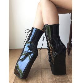 18cm Beginner Hoof Sole Heelless Fetish Punk Goth Pinup Ballet Pointe Boots