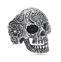 Stainless Steel Ring Mexican Skull, Biker Ring, Mens Jewelry