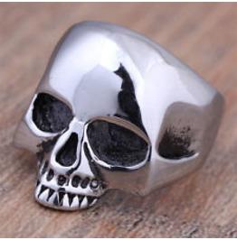Stainless Steel Classic Skull Ring, Biker Ring , Mens Ring