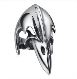 Stainless Steel Raven Ring, Biker Ring , Raven Skull Ring