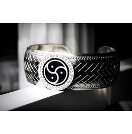 Bdsm Symbol Triskele Emblem Bracelet Cuff Submissive Slave Dominanant Mens