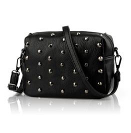 New Punk Women Solid Color Casual Pu Rivet Bag Shoulder Diagonal Handbags