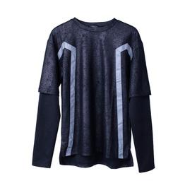 Waxed Sweatshirt Elastic Sleeves
