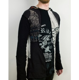 Post Apocalyptic Patchwork Hoodie From Vintage T Shirts