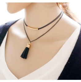 New Fashion Ms. National Wind Multilayer Tassel Necklace Creative Necklace