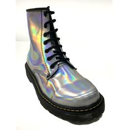 U.P.I.A.B.G. Hologram Pastel Goth 6 Eyelet Combat Boots Dr Tornasol