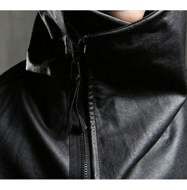 Personalized Slim Pu Leather Men Jackets