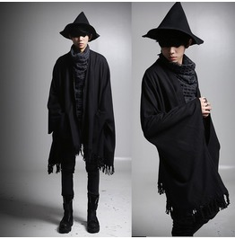 Fashion Autumn Men Tassel Style Batwing Cardigan