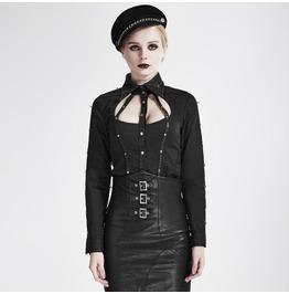 Punk Rave Women's Military Straps Single Breasted Slim Fitted Coat Y 691