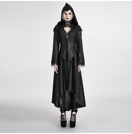 Punk Rave Women's Gothic Mystery Angel Hooded Overcoat Y 676