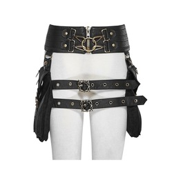 Steampunk Buckle Up Girdle Retro Holster With Detachable Waist Bags S 186