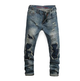 Grunge Jeans With Patched Knees