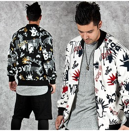 Multiple Cool Printing Accent Blouson Jacket 204