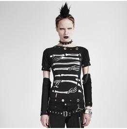 Punk Rave Women's Skeleton Printed T Shirt T 178
