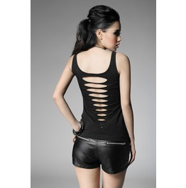 Punk Rave Women's Ripped Backless Tank Top T 317