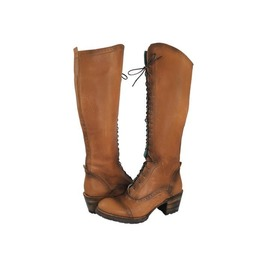 Untitled Vintage Antique Cognac Knee High Leather Boots