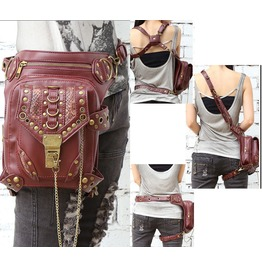 Gothic Punk Messenger Bag Travel Purse Women Shoulder Bag Handbag