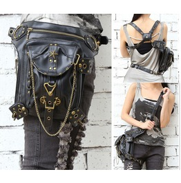 Retro Punk Gothic Fashion Handbags Purse Messenger Bag More Wear Law