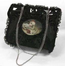 Dr frankenstein mark ryden bloody bunny cameo tafeta hand bag drfrk34 purses and handbags