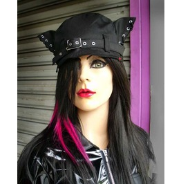 Dr. Frankenstein Black Cat Ears Hat