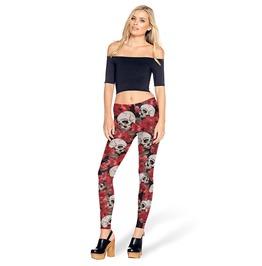 Sugar Skull Print Fashion Women Leggings Pants