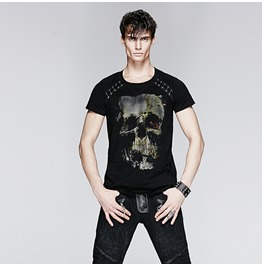 Punk Rave Men's Punk Skull Printed T Shirt T 398