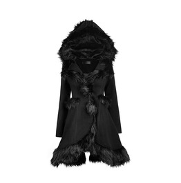 Punk Rave Women's Lolita Hooded Woolen Overcoat Ly 056