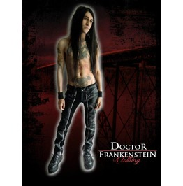 Dr. Frankenstein Black Vinyl Pants With Long Zipper
