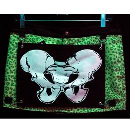 Dr. Frankenstein Green Leopard Print Mini Skirt
